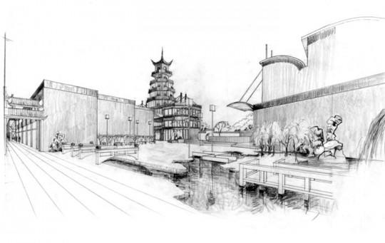 上海建筑文化中心奠基典礼举行